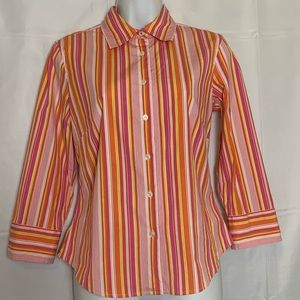 J. Crew Striped Fitted Shirt - Small